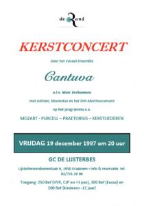 Cantuva Kerstconcert 1997