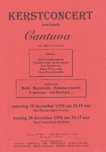 Cantuva Kerstconcert 1998