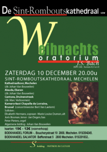 Cantuva Weinachtsoratorium Kathedraal Mechelen