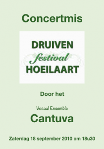 Cantuva Concertmis Druivenfestival
