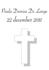 Cantuva Paula Dionisa De Lange