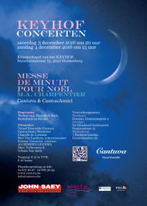 Cantuva Messe de Minuit Keyhof